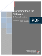 SUBWAY - Marketing Plan