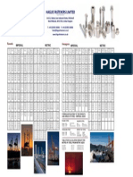 Hague Fasteners Bar Weight Wall Planner A3