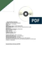 Características TécnicasCD DVD BLURAY