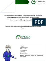 PETROM HAS BEEN AWARDED THE HIGHLY COMMENDED DISTINCTION FOR THE FANICA SOLUTION AT ONE OF THE MOST IMPORTANT ENVIRONMENT AND ENERGY EVENTS IN EUROPE