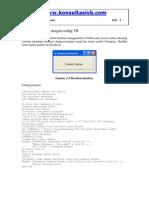 Membuat Database Dengan Coding Vb