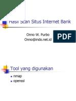 Ppt Hasil Scan Situs Internet Bank 06 2001