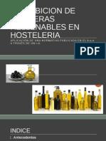 Prohibicion de Aceiteras Rellenables en Hosteleria