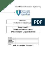 10-Combustion Lab Unit Liquid Burner