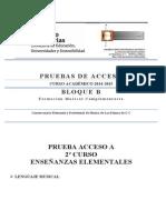 Lenguaje Musical Prueba Acceso 2º