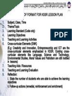 Format Lesson Plan