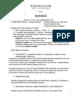 Fiziologie - Curs 1 Sangele