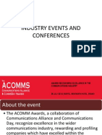 Industry Events and Conferences