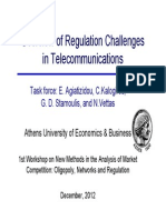 Overview of Regulation challenges in Telecommunications