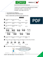 Subiect Matematica EtapaI 13-14 ClasaII