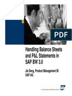 948 Handling Balance Sheets and Pal Statements in Sap Bw 30