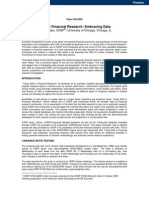 SAS in Financial Research