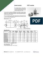1271 dc geared motor