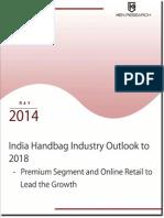 India Handbag Industry, Online Luxury Handbag Industry Outlook to 2018