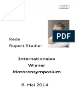 Rupert Stadler - Wiener Motorensymposium 2014
