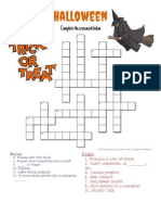 Halloween Crossword 1