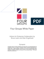 Actions for Enterprise Collaboration - Four Groups