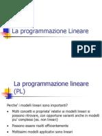 La programmazione Lineare