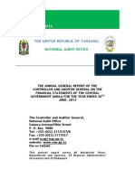 Public Accounts Audit by CAG Tanzania 2012/2013