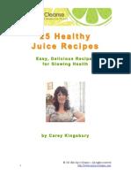 25 Juice Recipes
