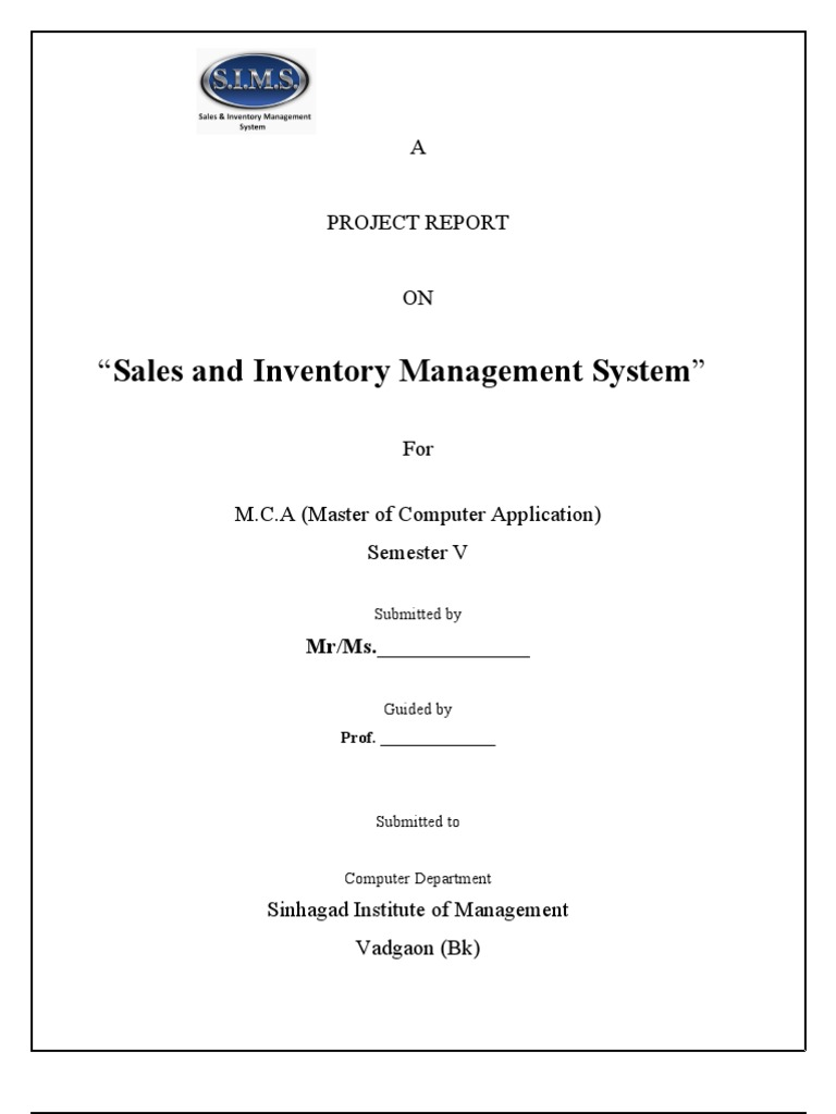 thesis report on inventory management Chapter 14 inventory management: information, coordination and rationality 1 ozalp¨ ozer¨ management science and engineering stanford university stanford, ca.