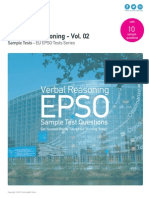 Verbal Reasoning Sample Tests - EU EPSO Volume 02