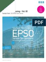 Verbal Reasoning Sample Tests - EU EPSO Volume 02