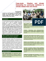 Weather and Climate Forecasting for Community Resilience to Climate-Related Risks and Shocks in Uganda