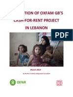 Evaluation of Oxfam GB's Cash-for-Rent Project in Lebanon