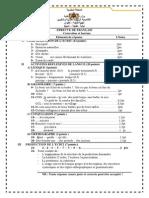 تصحيح امتحان الفرنسية دورة يونيو 2012طنجة أصيلة مدرسة الشريف الإدريسي
