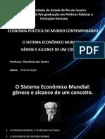 Sistema Econômico Mundial - Gênese e Alcance de Um Conceito - Theotônio Dos Santos
