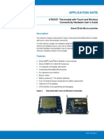 Atmel 42209 Thermostat With Touch and Wireless Connectivity Hardware User's Guide AP Note At03197