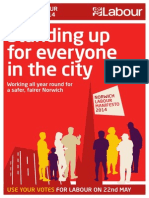 Norwich Labour City Group Manifesto 2014