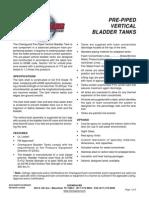 Vertical Bladder Tank Pre Piped Arrangement