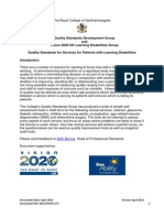 2014 PROF 273 Quality Standards for Services to Patients With Learning Dissabilities
