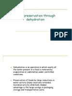 Food Preservation through Dehydration