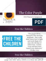 the color purple- ngo assignment