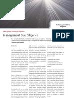 Management Due Diligence - Four Groups