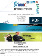 MMF Solutions Today's Equity Newsletter 08 May-14