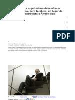 Entrevista Con Alvaro Siza