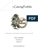 Doyles Featured Caterer Menu