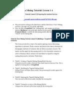 Data Mining Tutorial Lessons 1-4