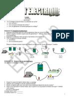 Circuit Electrique Exercice
