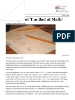 the myth of im bad at math