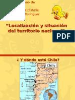 Localización y situación del territorio nacional