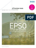 Accuracy and Precision Tests - EU EPSO