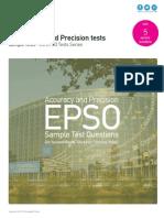 Accuracy and Precision Tests - EU EPSO