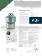 InSinkErator Model Evolution 100 Food Waste Disposer