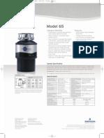 InSinkErator Model 65 Food Waste Disposer