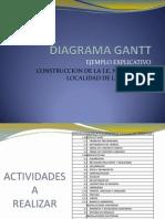 Ejemplo Diagrama Gantt